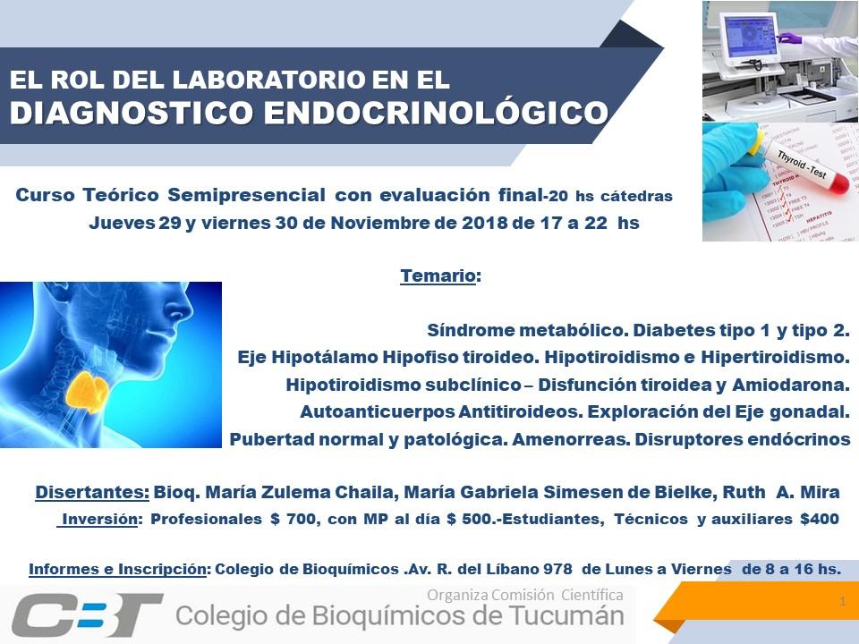 """""""El rol del laboratorio en el diagnóstico endocrinológico"""""""