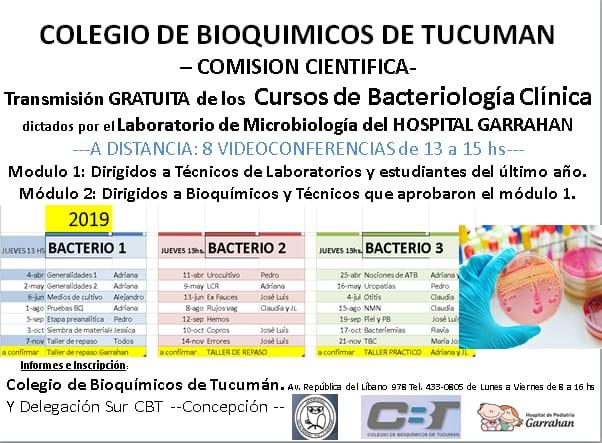 Cursos de Bacteriología Clínica – Hospital Garrahan
