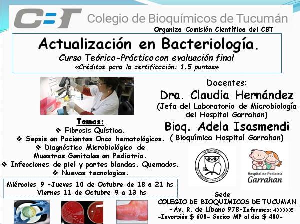 """Curso: """"Actualización en Bacteriología"""""""