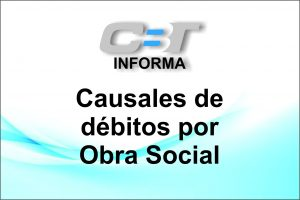 Causales de débitos por Obra Social
